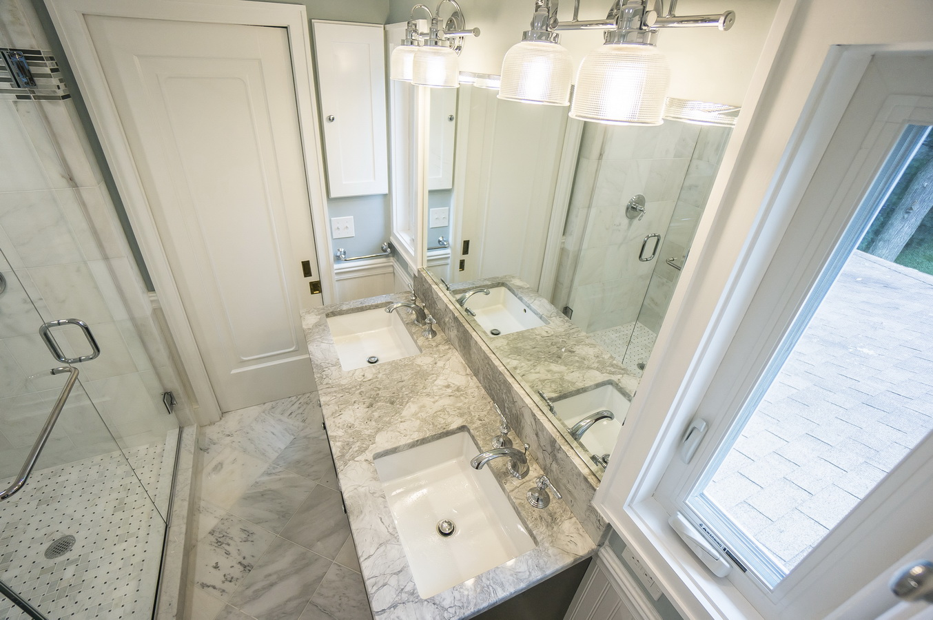 Norwalk CT Marble Bathroom Design